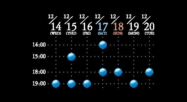 タイムテーブル表